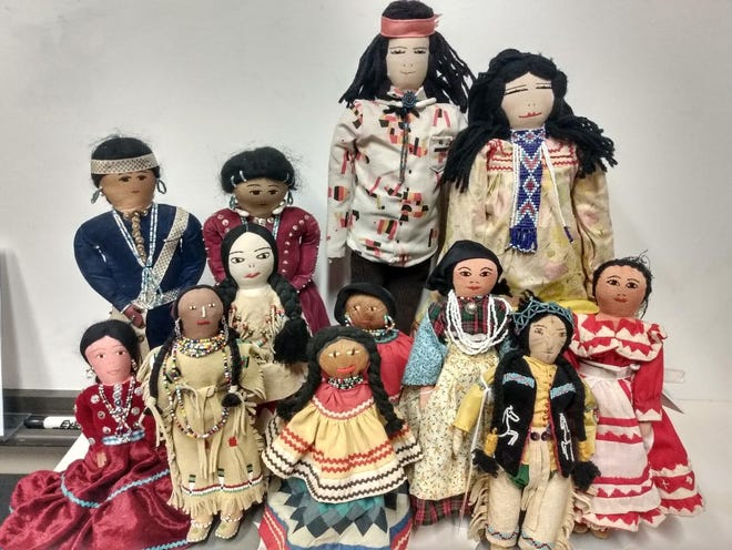 """The American Indian Culture and Preservation Office of the Oklahoma Historical Society has opened a new educational exhibit, """"Child's Play: Dolls of Native America,"""" located in the John and Eleanor Kirkpatrick Research Center at the Oklahoma History Center. [Photo provided]"""