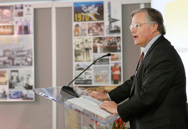 Clifford Hudson, former President and Chief Executive Officer, Sonic Corporation, talks during a meeting in Oklahoma City, Thursday January 16, 2014. [The Oklahoman Archives]