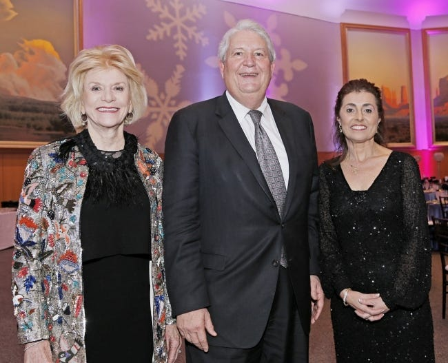From left, Judy Love, Mike Turpen and Debby Hampton pose for a photo Jan. 22, 2016, at the United Way of Central Oklahoma Snowflake Gala at the National Cowboy & Western Heritage Museum. [Doug Hoke/The Oklahoman Archives]