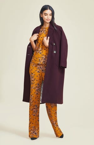 Wine is an ideal color for fall as part of a garment ensemble or on accessories. [Photo provided]