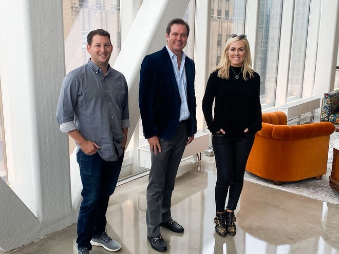 Jesse Liddell, left, is joining Matt Payne and Rachel Cannon with Prairie Surf Media. [Photo provided]