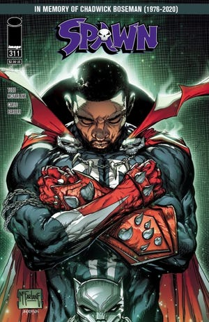 """Image Comics President Todd McFarlane plans a tribute cover to actor Chadwick Boseman on an upcoming issue of """"Spawn."""" [Image Comics]"""