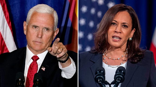 Pence and Harris face off in a vice presidential debate on Wednesday.