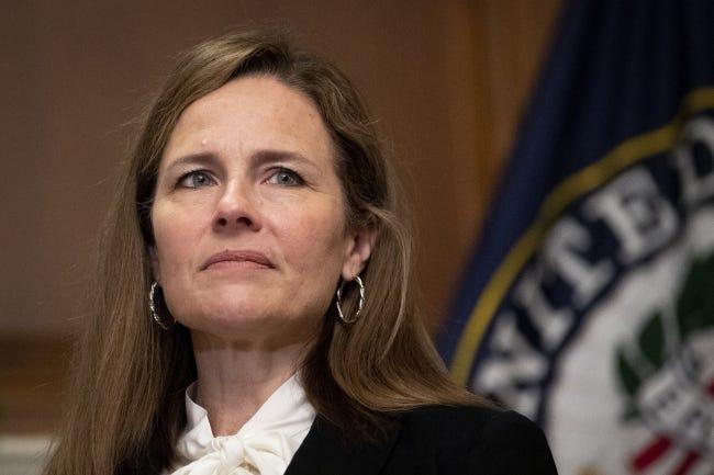 Supreme Court nominee Judge Amy Coney Barrett [Caroline Brehman/Pool via AP]
