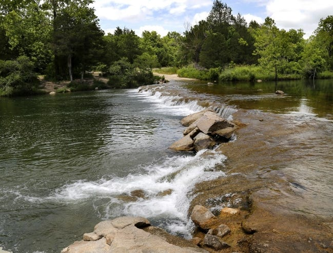 The Blue River near Tishomingo in Johnston County in seen in June 2018. [The Oklahoman Archives]