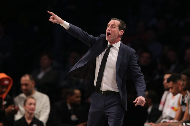 Kenny Atkinson went 118-190 as head coach of the Brooklyn Nets before his dismissal in March. [Brad Penner/USA TODAY Sports]