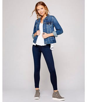 "Spanx ""Jean-ish"" leggings, available at Dillard's."