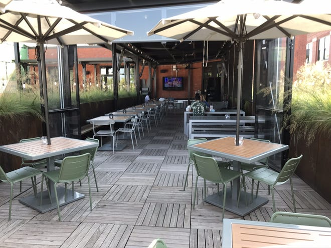 The upstairs patio at downtown Oklahoma City's Parlor food hall is now covered. [Dave Cathey PHOTOS/The Oklahoman]