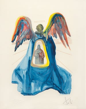 """An image of Salvador Dali's """"Dante Purified"""" on exhibit in Shawnee. [Photo Provided]"""