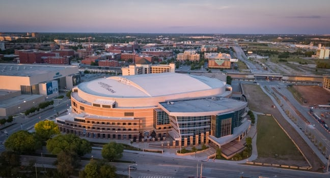 Chesapeake Energy Arena will host first- and second-round games of the NCAA men's basketball tournament in 2026. [DAVE MORRIS/THE OKLAHOMAN]