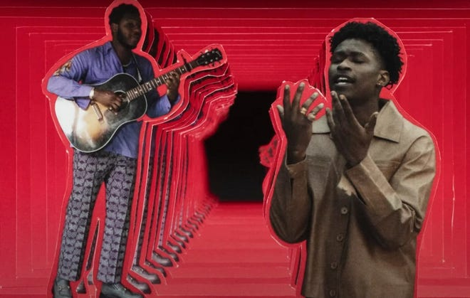 """The creative team Lamar + Nik - Oklahomans Jesse Lamar High and Nik Harper - created the eye-popping music video for Leon Bridges and Lucky Daye's """"All About You."""" [Screen shot provided]"""
