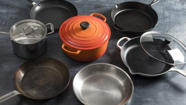 Investing in a few decent pieces of cookware will make cooking easier and your food better. America's Test Kitchen expert Lisa McManus says every kitchen should have a Dutch oven, two large skillets and a large saucepan. [PHOTO PROVIDED/KEVIN WHITE/ATK]