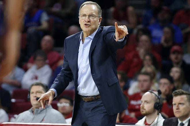 Oklahoma coach Lon Kruger and the men's basketball team will host Alabama as part of the SEC/Big 12 Challenge, Jan. 30, 2021. [Bryan Terry/The Oklahoman]