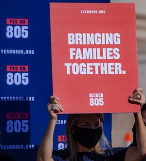 Supporters for SQ 805 gather to address misinformation and new endorsements for State Question 805 during a press conference at the Oklahoma state Capitol in Oklahoma City, Okla. on Thursday, Oct. 22, 2020. [Chris Landsberger/The Oklahoman]