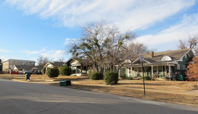 A view of Heritage Hills East Historic District is shown in Oklahoma City. [PHOTO PROVIDED BY STATE HISTORIC PRESERVATION OFFICE]