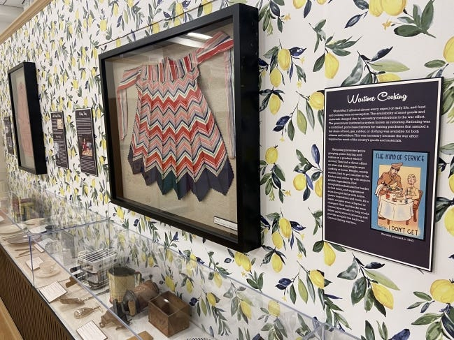 """Artifacts such as cooking implements, aprons, cookbooks and appliances are included in the """"What's Cooking, Edmond?"""" exhibit at the Edmond Historical Society and Museum. [PHOTO PROVIDED]"""