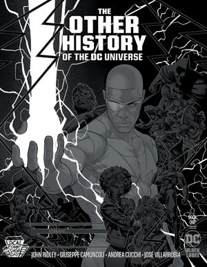 """DC Comics is providing a silver metallic ink variant of """"The Other History of the DC Universe"""" #1 for Local Comic Shop Day. [DC Comics]"""