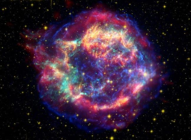 Illustration of a Supernova Remnant in Cassiopeia. [NASA]