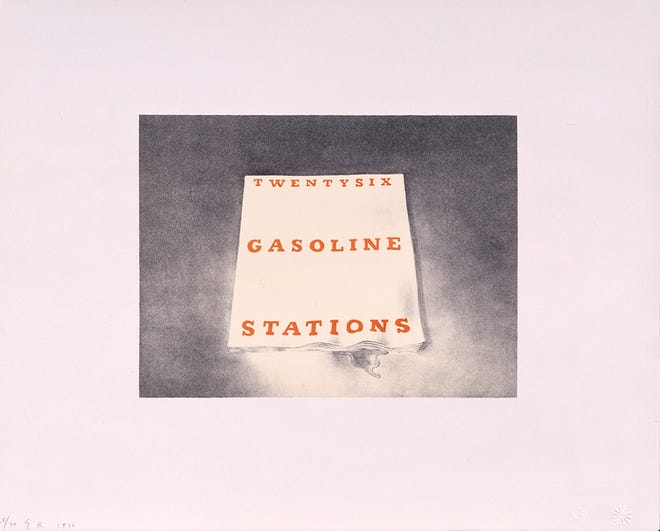 """Ed Ruscha's """"Twentysix Gasoline Stations from Book Covers, 1970"""" will be included in the upcoming exhibit """"Ed Ruscha: OKLA"""" at Oklahoma Contemporary Arts Center. [Image provided]"""