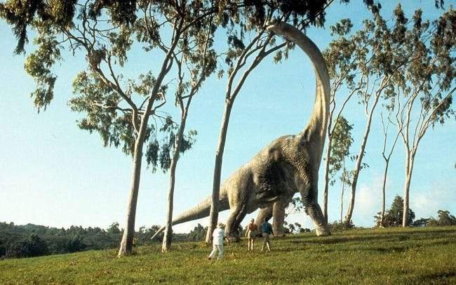 """John Williams composed the score for Steven Spielberg's 1993 film """"Jurassic Park."""" [Universal Pictures photo]"""