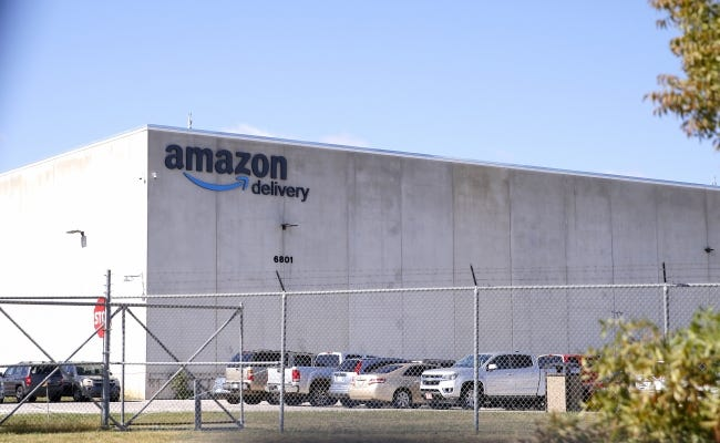 Amazon moved into a 312,120-square-foot mega warehouse, nearly 20 years old but retrofitted, at 6801 S Air Depot Blvd., in June. [SARAH PHIPPS/THE OKLAHOMAN]