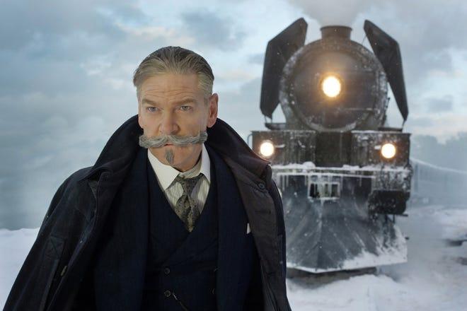 """Kenneth Branagh as Hercule Poirot in """"Murder on the Orient Express."""" [Twentieth Century Fox/TNS]"""