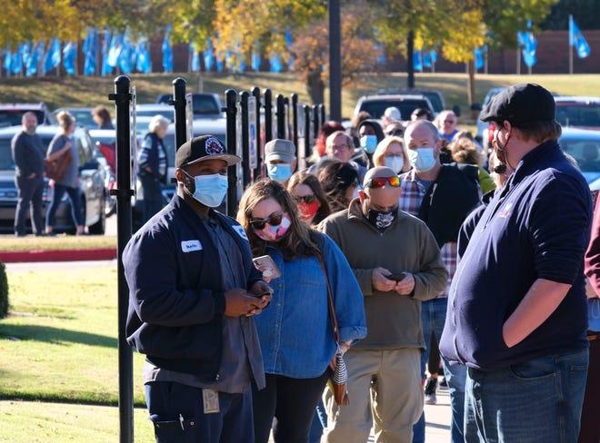 Election Day voting at Oklahoma Christian University in Edmond, Tuesday, November 3, 2020. [Doug Hoke/The Oklahoman]