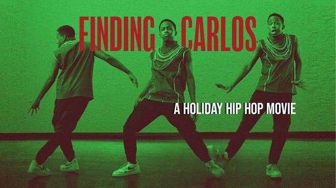 """""""Finding Carlos,"""" a new holiday hip-hop movie inspired by the classic story ballet """"The Nutcracker,"""" will be coming to theaters, television and streaming this December. [Poster image provided]"""