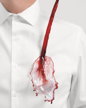 Van Heusen has introduced new Stain Shield dress shirts for men.
