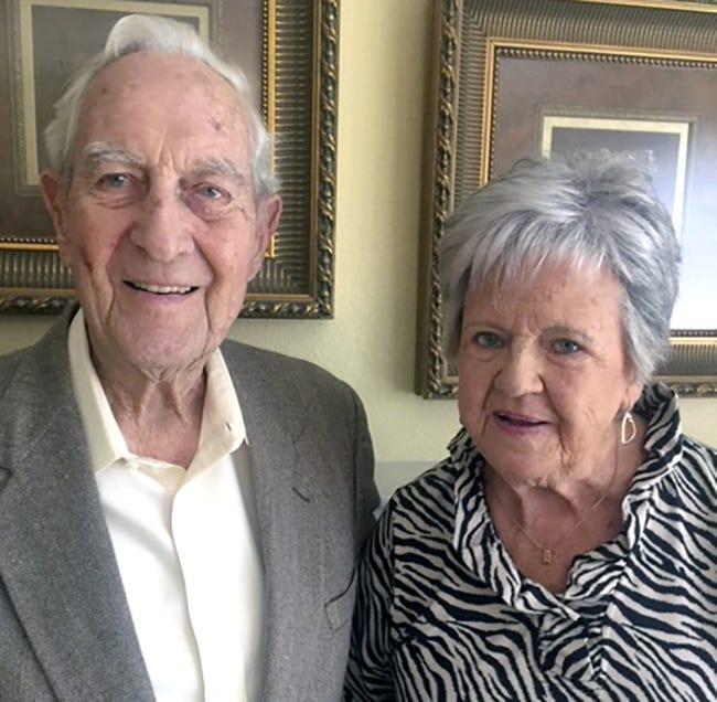 70 years: Floyd and Bert Dalke, of Oklahoma City, were married Nov. 17, 1950, in Corn.