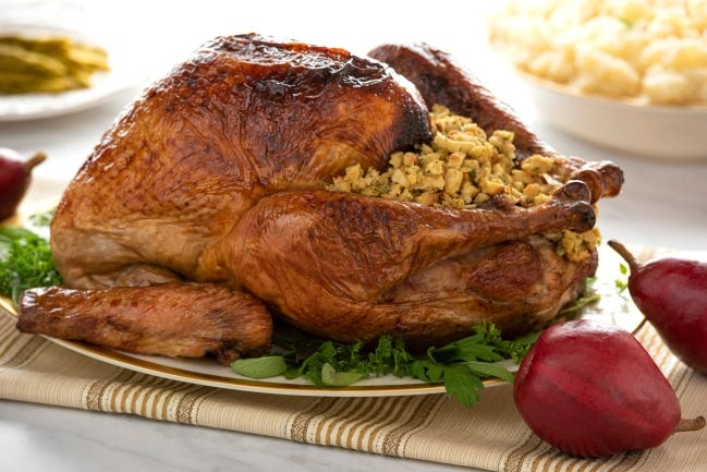 This roasted turkey was first brined in Milo's Sweet Tea. [Photo provided]