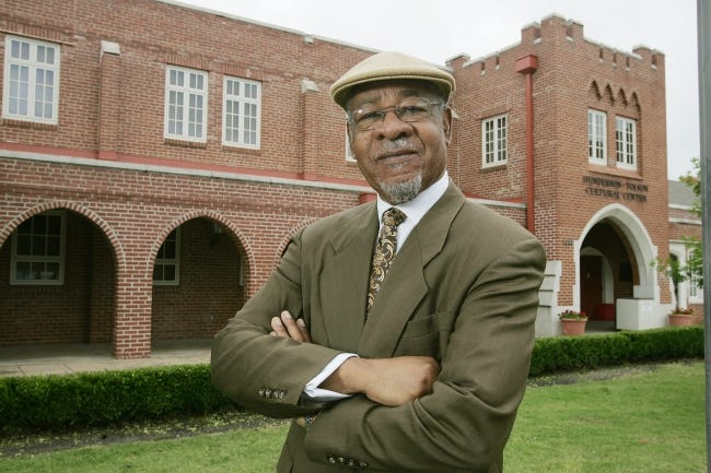 """George Henderson (pictured in 2006) says """"athletes now are speaking mostly with one voice. They're using their platform trying to bring change within their universities and communities."""" Henderson knows about change. In 1967, he and his wife, Barbara, became the first African-American homeowners in Norman, after Henderson joined the OU faculty. [OKLAHOMAN ARCHIVES]"""