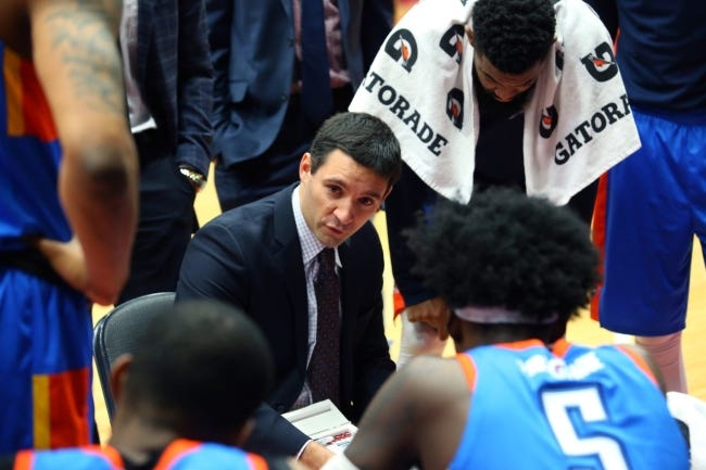 Mark Daigneault is in the process of hiring his staff. Daigneault, 35, is the second-youngest head coach in the NBA. [Photo by Dennis Slagle/NBAE via Getty Images]