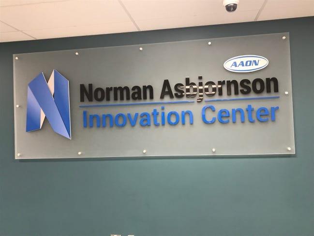 AAON Inc.'s Norman Asbjornson Innovation Center. [JIM STAFFORD/FOR THE OKLAHOMAN]