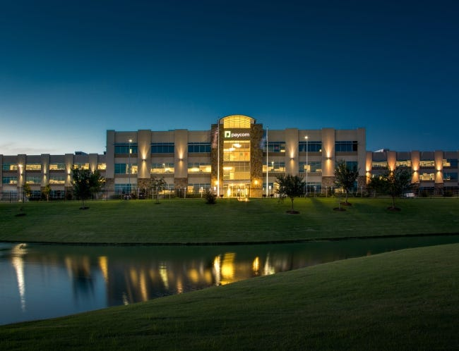 Paycom's corporate headquarters in Oklahoma City. [PROVIDED]