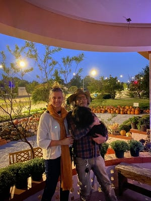 Kris and Shaun Murray, and Brick, at Brick's Garden Exchange during the Fall Exchange. [PHOTO PROVIDED]