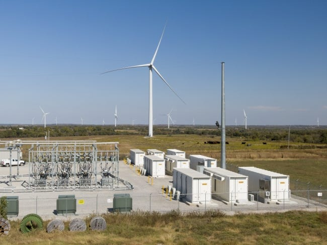 NextEra Energy Resources' Rush Springs Energy Storage Facility near Marlow. [PHOTO PROVIDED/NEXTERA ENERGY RESOURCES]