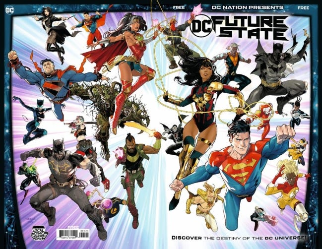 """DC Comics has created a limited """"Future State"""" variant promoting Local Comic Shop Day. [DC Comics]"""