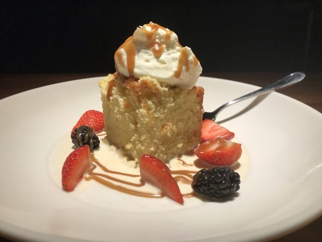 Tres Leches Cake from Jimmy B's Culinary and Hand-Krafted in Automobile Alley. [Dave Cathey/The Oklahoman]