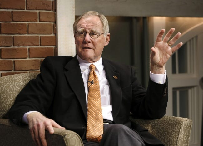 OSU President Burns Hargis is stepping down after 13 years at the helm. [THE OKLAHOMAN ARCHIVES]