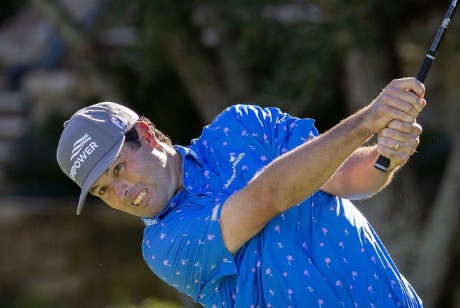 Robert Streb hits his ball down the 10th fairway during third round of the RSM Classic golf tournament Saturday in St. Simons Island, Ga. [AP Photo/Stephen B. Morton]