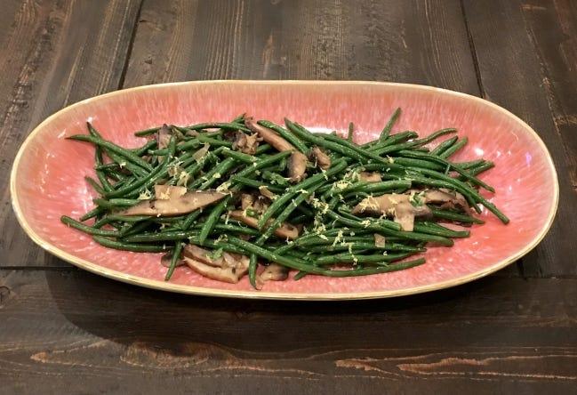 Green bean saute emphasizes good, fresh grean beans for Thanksgiving. [Photo provided]