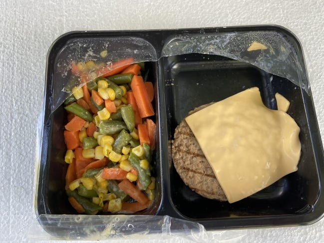 Senior citizens in southern Oklahoma who particpate in a government funded meal program that delivers meals to their homes are upset that they are now receiving refrigerated meals like this from an Iowa-based company.