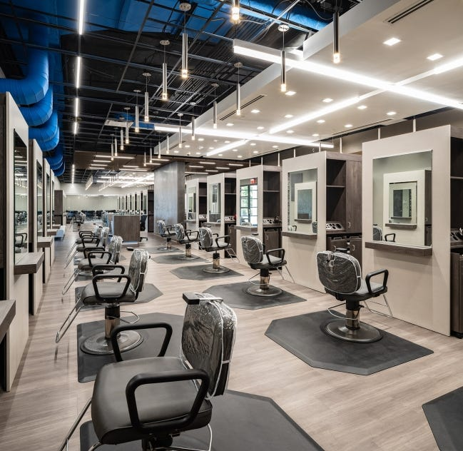 A new barbering and cosmetology facility is ready for students at Metro Tech, 1900 Springlake Drive. [PHOTO PROVIDED]