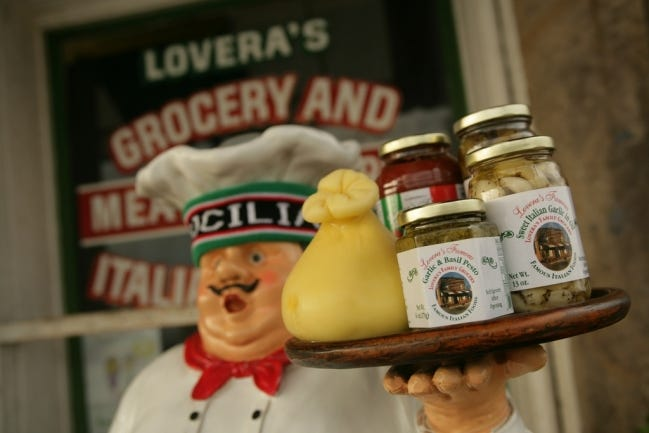 Visitors to Lovera's Italian Market are greeted with homemade cheese, sausage, pasta and imported goods from Italy. [THE OKLAHOMAN ARCHIVES]