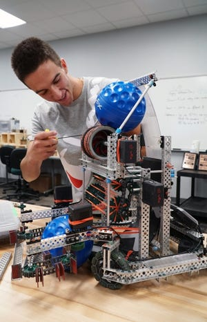 Ryan Tinder was an integral member of the reigning state champion VEX Robotics team at Canadian Valley Technology Center's Chickasha campus. He is also the first national SkillsUSA officer representing the Chickasha campus. [PHOTO PROVIDED]