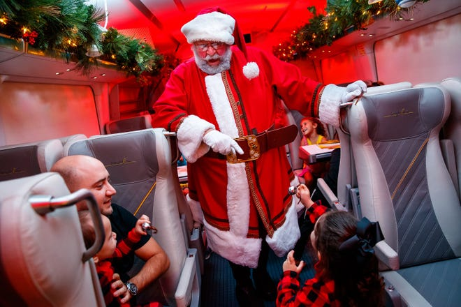 The Polar Express Train Ride, produced by Rail Events Productions, on the Brightline train in Ft. Lauderdale, Florida, Saturday, November 10, 2018. [Photo by Guy Rhodes]