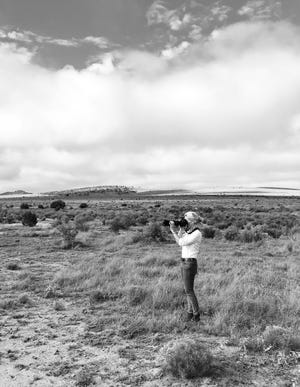 """A selection of dramatic black-and-white photographs of Western landscapes, rodeos and ranch communities by French-born photographer Anouk Masson Krantz are featured in her solo exhibition """"West: The American Cowboy,"""" on view through Dec. 13 at the National Cowboy & Western Heritage Museum. [Photo provided]"""