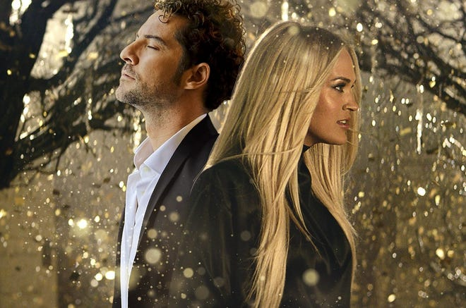 """David Bisbal and Carrie Underwood collaborate on the bilingual pop single """"Tears of Gold."""" [Photo provided]"""