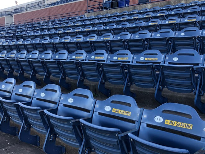 Certain sections of seats will be unavailable as part of UCO's fan safety guidelines the next three weekends hosting the OSSAA football state championships [UCO Athletics]